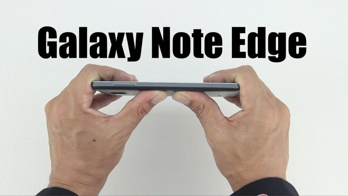 galaxy note edge bend test