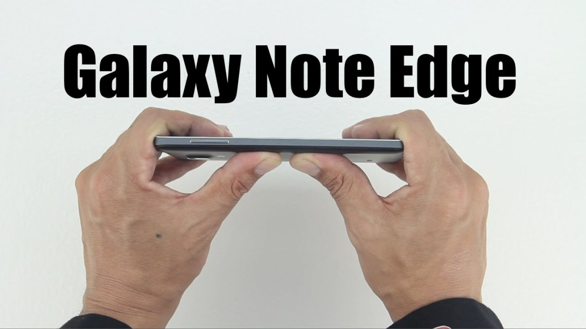 galaxy note edge bend test