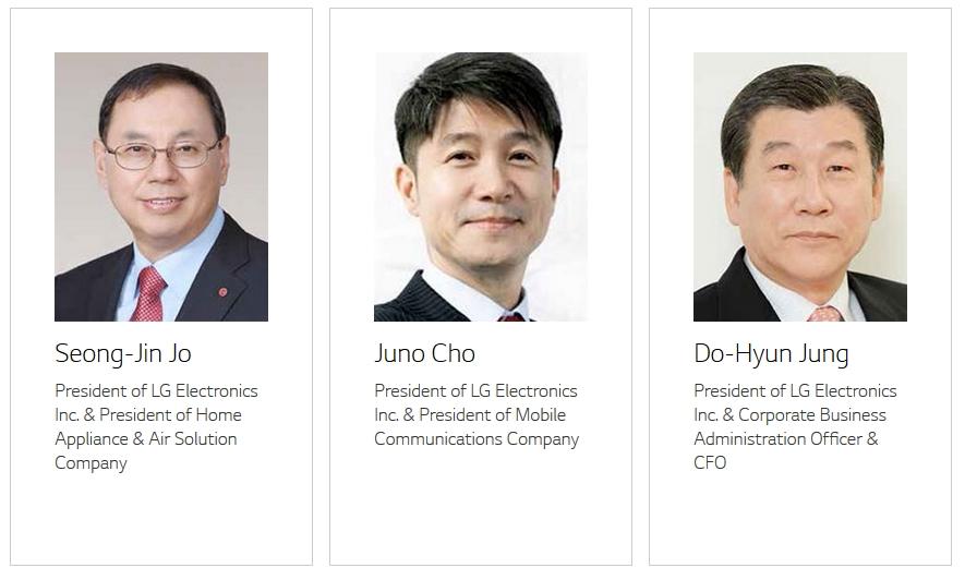 Les cadres de LG Electronics