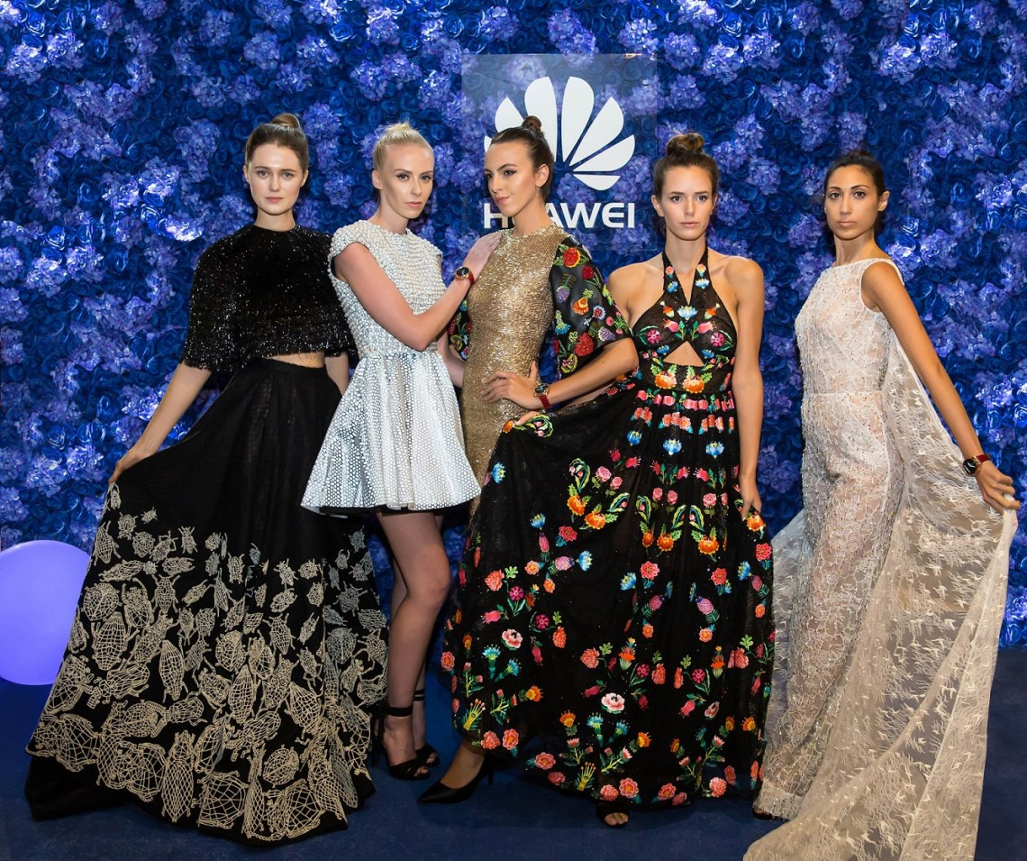 Huawei presents a retrospective of Rami Kadi's technology inspired couture creations