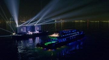 Un lancement régional spectaculaire à Dubaï autour d'un show son et lumière offshore