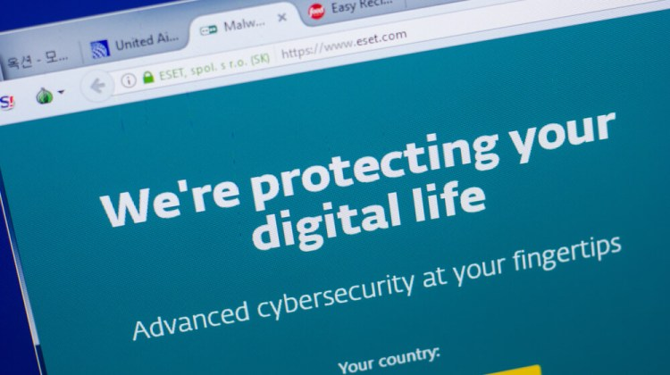 Eset-website-on-the-display-of-PC