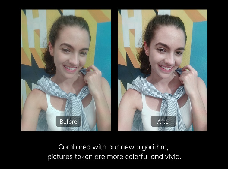 Combinaison réalisée grâce au nouvel algorithme ; les photos ainsi que la couleur sont ravivées