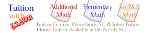 Additional Math and Math Group tuition in Woodlands and Johor Bahru. Private home tuition at north Singapore
