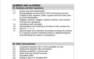 sec 1 mathematics exam syllabus