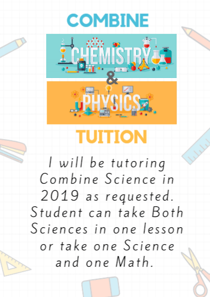 combine science physics chemistry small group tuition. at woodlands