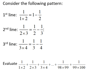 e-math - numbers, ratio and proportion - A Series of Fractions