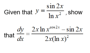 additional math - differentiation - sin 2x and 2lnx