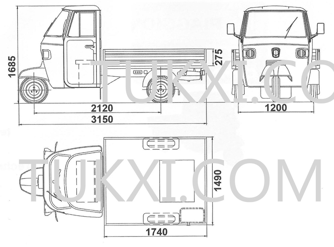Ape Classic 400 Pick Up Truck