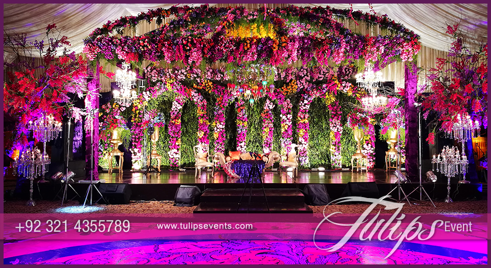 Thematic walima grand 5 stage decoration indoor wedding setup at explore the perfect floral arrangements stage backdrop and themed sitting at out latest wedding night garden junglespirit Image collections
