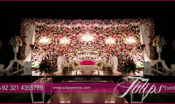 Best events management company in pakistan tulips events for Annual day stage decoration images