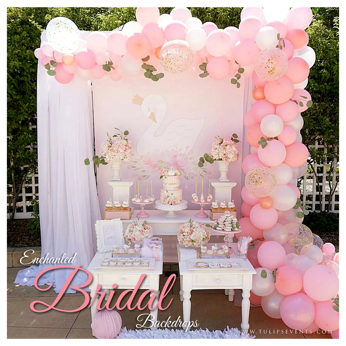 tea pink outdoor bridal shower party