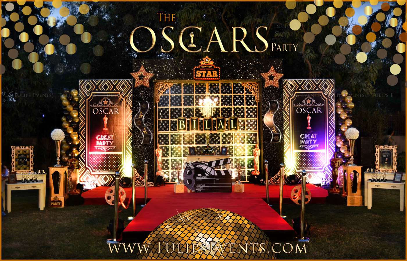 Great Awards Oscar Party Ideas By Tulips Events In Pakistan