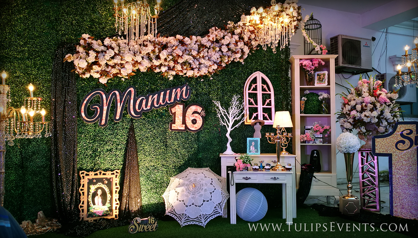Sweet 12 Outdoor Theme Party - Tulips Event Management