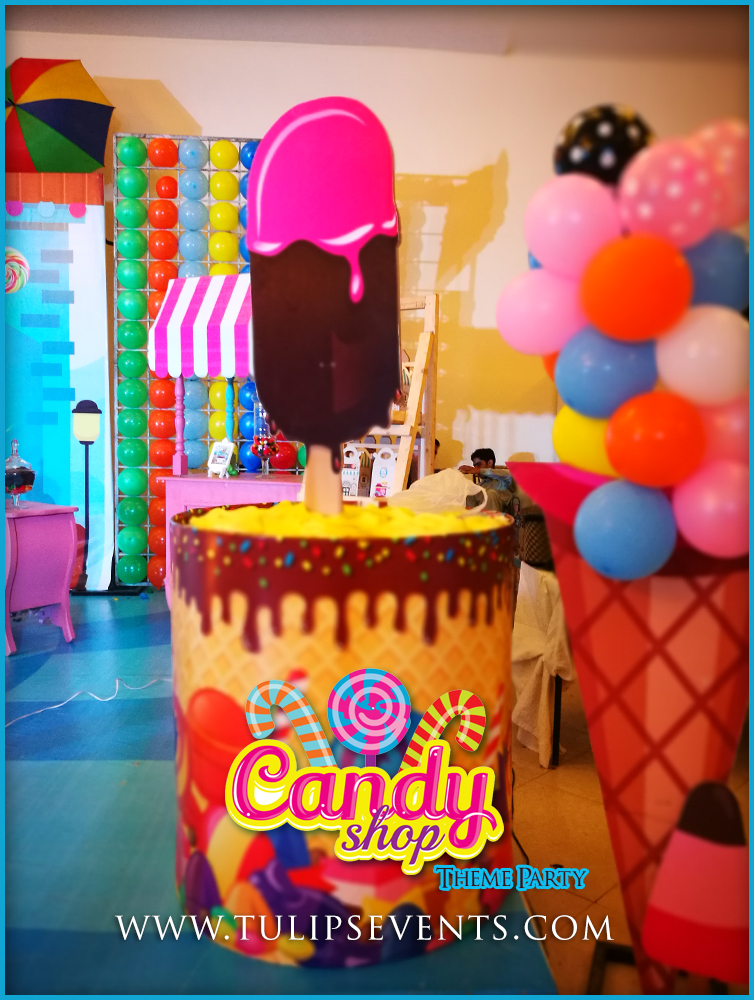 Sweet Candy Shoppe Theme Birthday Party By Tulips Events