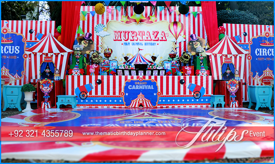 Amazing Circus Theme Party Tulips Event Management