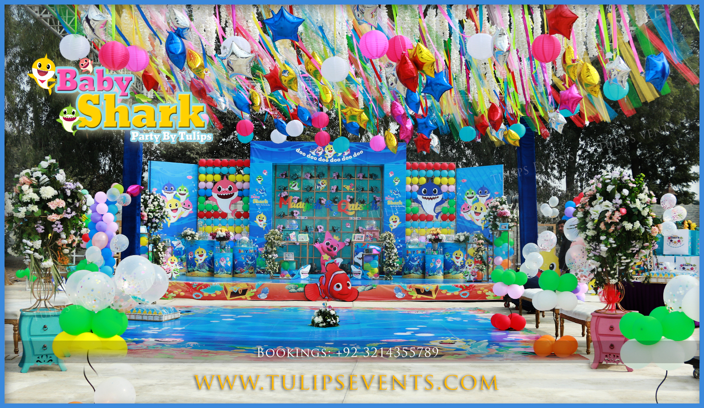 Awesome Decorations Party Baby Shark Birthday Decorations