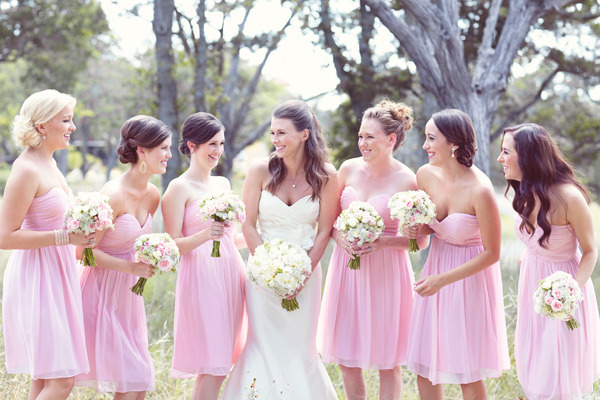 Charming Pink Draped Sweetheart Flowing Chiffon Short Bridesmaid Dresses