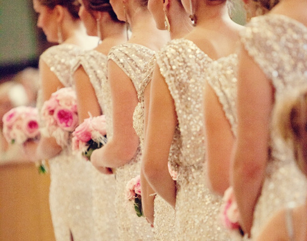 Sparkly Sequined Bridesmaids Dresses