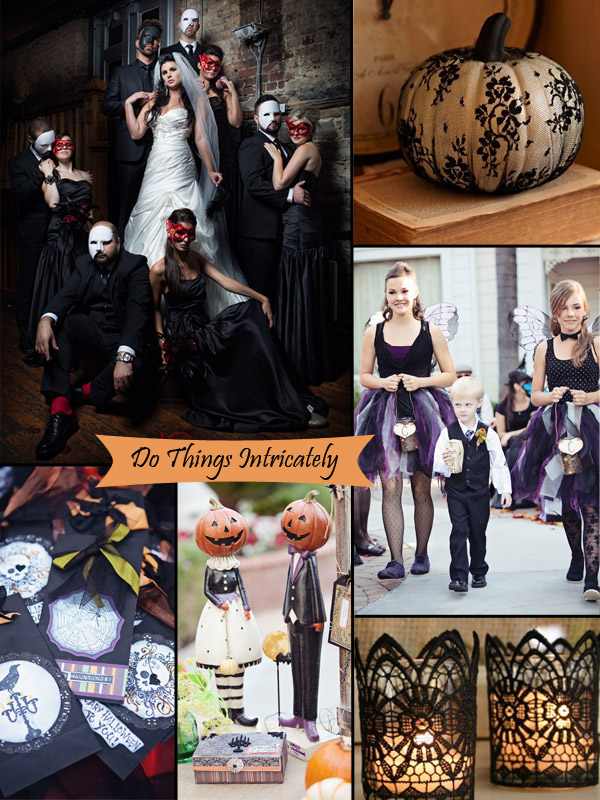 Classy Halloween Inspired Wedding Ideas And Bridesmaid