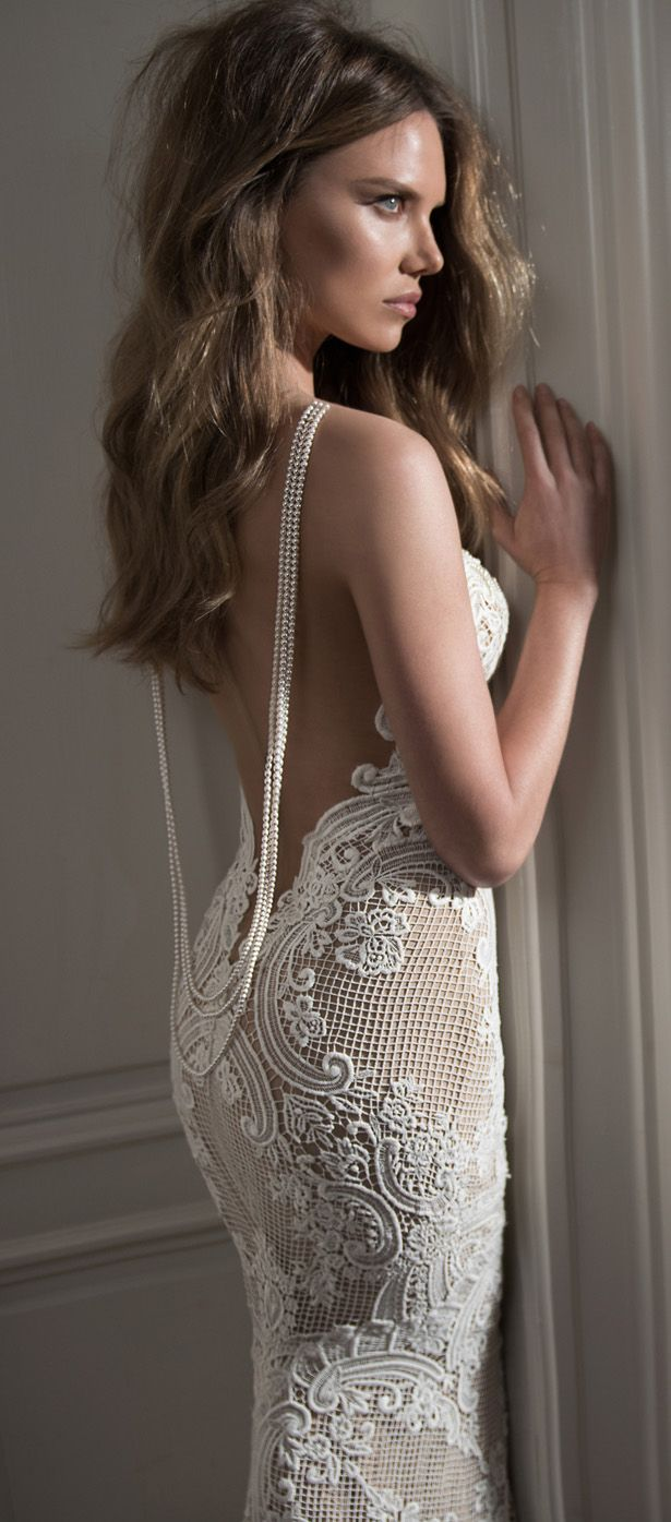 Berta Wedding Dress 2015 With Pearl Back Tulle