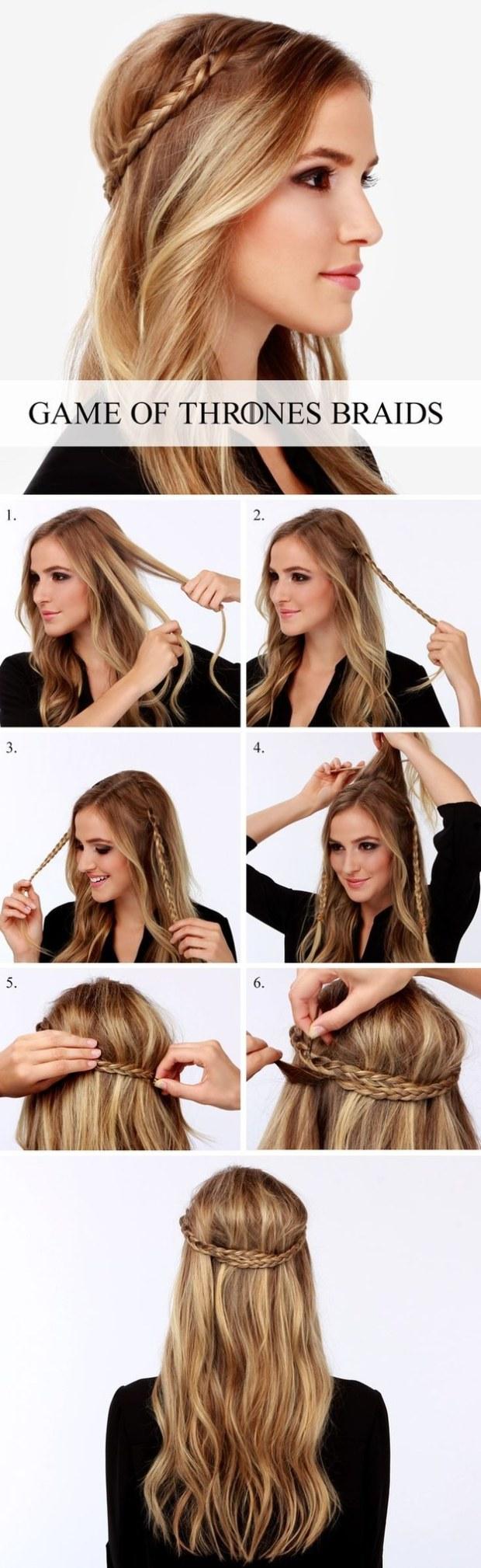 Game of Thrones inspired diy braids wedding hairstyle