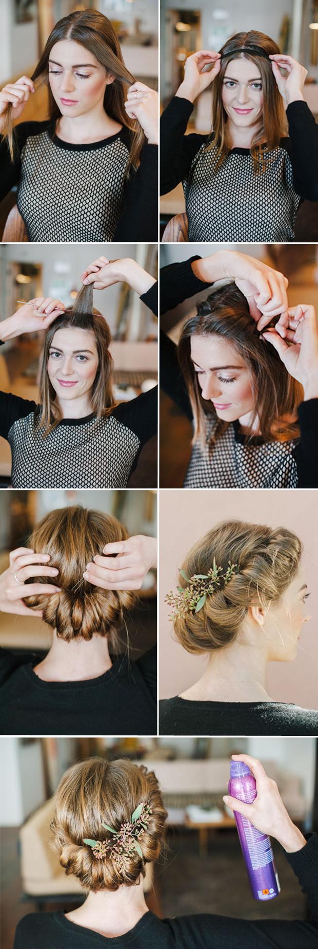 romantic twisted braid diy wedding hairstyles