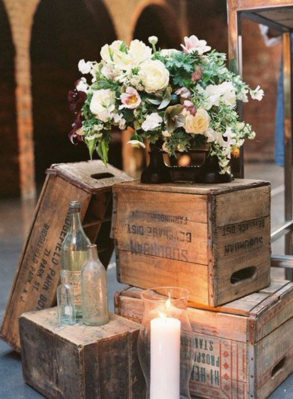 Tall Rustic Barrel Table