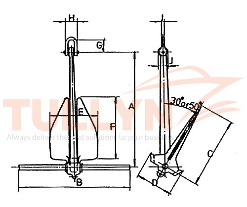 Lightweight Anchor LWT Anchor Drawing