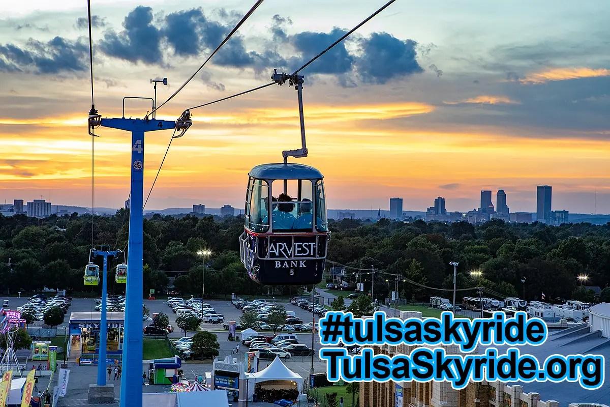 Tulsa Skyride at sunset: skyride benefits