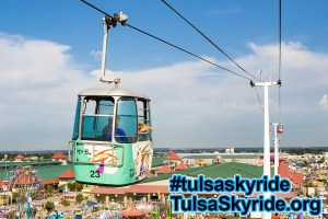Tulsa Skyride: Gangloff cabin above the midway