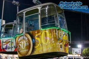 Tulsa Skyride: special 50th anniversary cabin