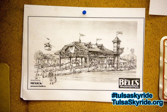 Tulsa Skyride: beautiful design concept for the western skyride station by Minick Associates