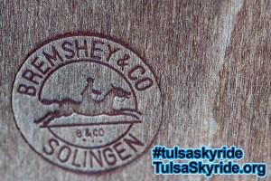 Tulsa Skyride: Gangloff cabin Bremshey & Co logo on seat