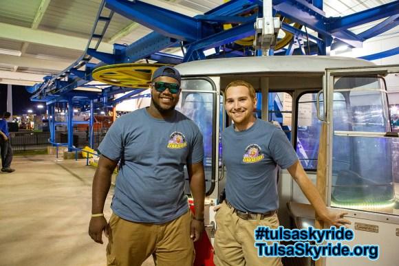 Tulsa Skyride crew 2015: Kenny and Scott