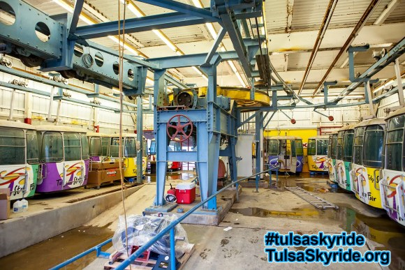 Tulsa Skyride: new motor is ready for installation.