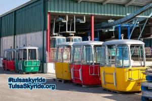 Tulsa Skyride: Gangloff cabins prior to restoration