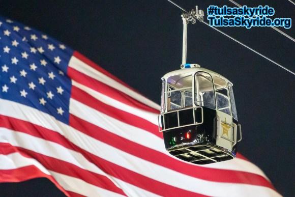 Tulsa Skyride: restored Gangloff cabin themed as Skyride Police