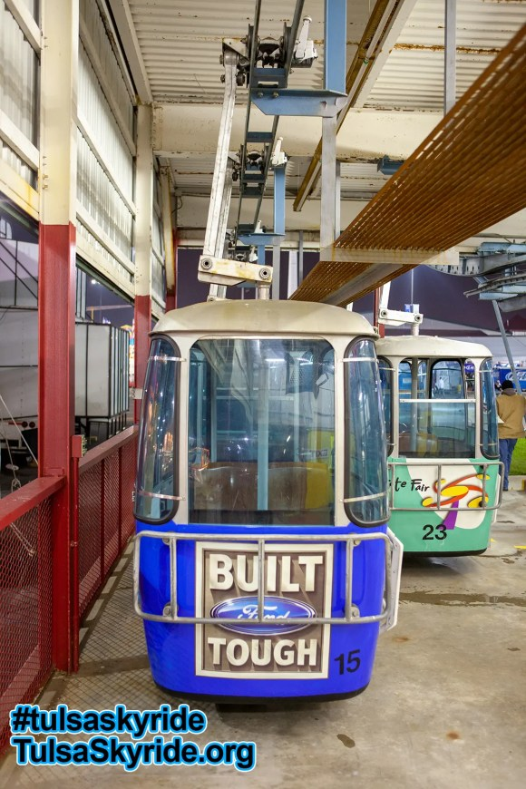 Tulsa Skyride: one of two maintenance catwalks added to the eastern station in 2008 is seen here.