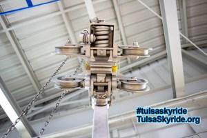 Tulsa Skyride: the underside of a VR 101 grip
