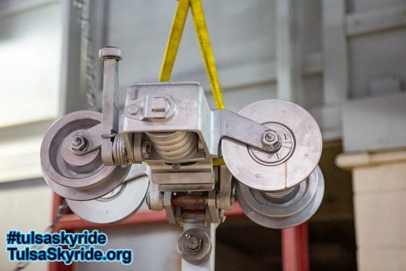 Tulsa Skyride: original Von Roll cast iron VR 101 grip