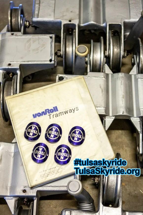 Tulsa Skyride: Von Roll Tramways manual and VR 101 grips.