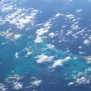 Flying into the Caribbean, Punta Cana, Dominican Republic