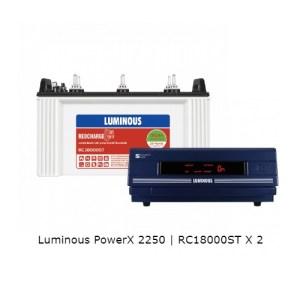 Luminous PowerX 2250 and Luminous Red Charge RC18000ST 150Ah Battery
