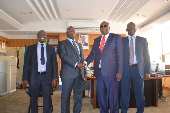 CAF Veep Chiyangwa, Mawere Confer On Possible AFCON Bid For Zambia