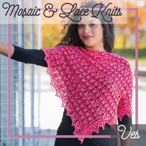 A shawl combing slip stitch colorwork and lace.