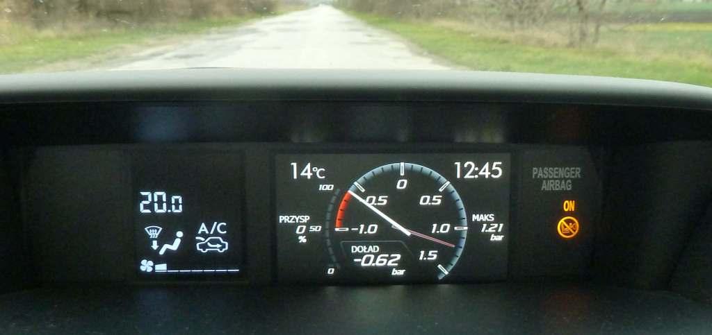 Subaru WRX STI speed accelerator displayer wyświetlacz przyspieszenia prędkości