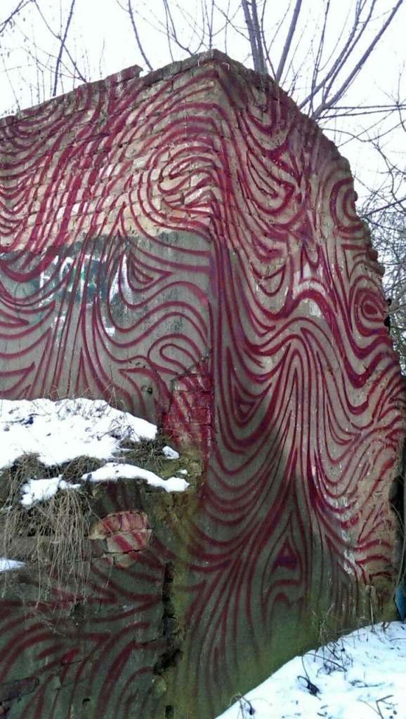 Mur Baranowicze Białoruś Білорусі графіті