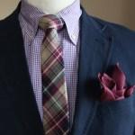 チェックネクタイに合うシャツ・スーツ|色別23コーデ
