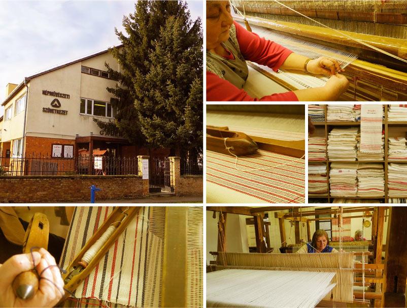 ハンガリーの織物工房